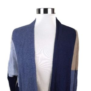 Lucky Brand Open Front Long Sleeve Knit Cardigan M